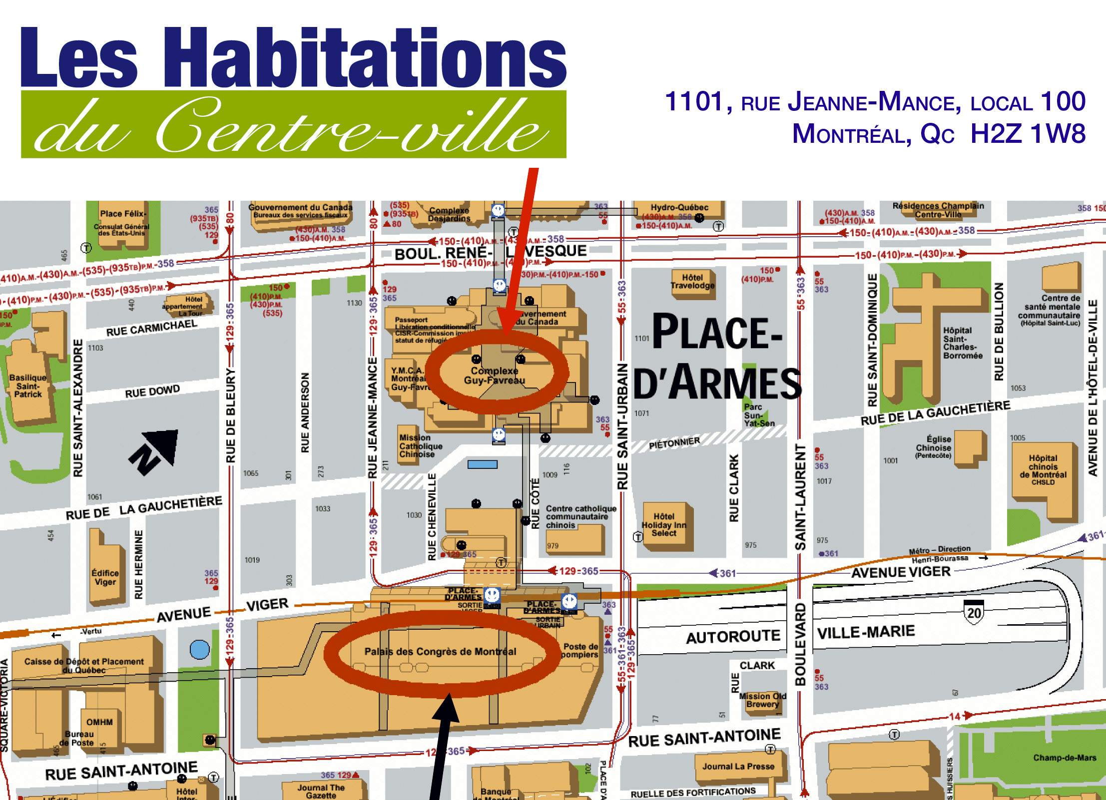 Habitations du Centre-Ville - Rental on